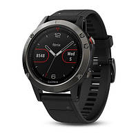 Смарт часы Garmin Fenix 5 Slate gray with black band