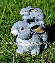 Садовая фигура Зайчиха с зайчонком, Зайчонок, Зайчонок Кузя, Зайчонок Тимоха и Крольчиха, фото 3