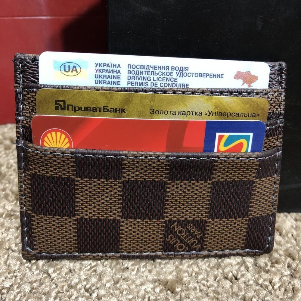 fb033863bd3fc Портмоне органайзер мужской Louis Vuitton Card Holder Double Damier Ebene  (реплика)