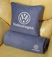 Автомобильный плед Volkswagen в чехле с вышивкой логотипа, фото 1