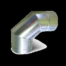 Колено 45°/90° из 0,5 мм нержавеющей стали с оцинковкой