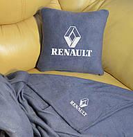 Автомобильный плед Renault в чехле с вышивкой логотипа, фото 1