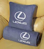 Автомобильный плед Lexus в чехле с вышивкой логотипа, фото 1