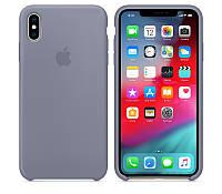 Silicone Case Original for iPhone XS Max Lavander Gray
