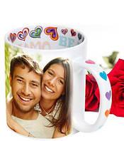 Чашка с фотографией на День Всех Влюбленных