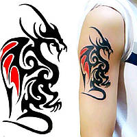 """Татуювання - наклейка """"Дракон"""""""