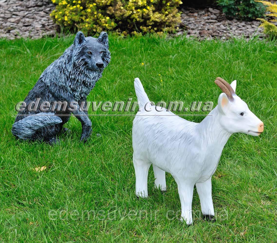 Садовая фигура Волк и Коза