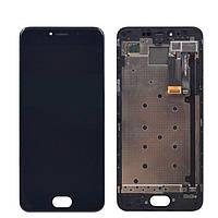 Дисплей для Meizu Pro 6 (M570) + touchscreen, черный, с передней панелью Высокое качество