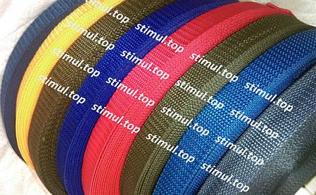 Тесьма цветная 30 мм (бухта 50 м) ХАКИ / Стропа сумочная ременная / Лента для рюкзаков / Стрічка ремінна, фото 2