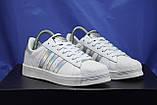Женские белые кроссовки/кеды в стиле adidas superstar, фото 3