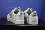 Женские белые кроссовки/кеды в стиле adidas superstar, фото 4