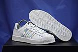 Женские белые кроссовки/кеды в стиле adidas superstar, фото 2