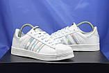 Женские белые кроссовки/кеды в стиле adidas superstar, фото 6