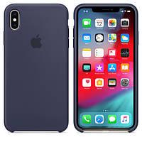 Silicone Case Original for iPhone XS Max Midnight Blue