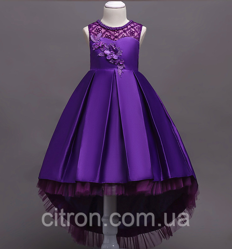 Платье фиолетовое бальное выпускное нарядное для девочки в садик или школу, фото 1