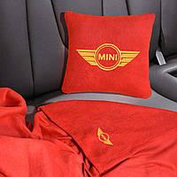 Автомобильный плед Mini в чехле с вышивкой логотипа, фото 1