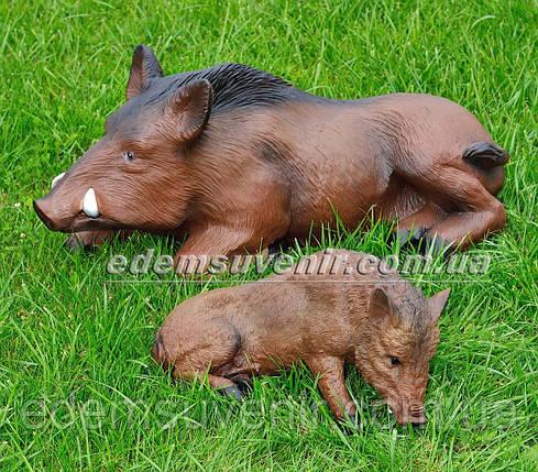 Садовая фигура Кабан лежачий и Кабан лежачий средний, фото 2