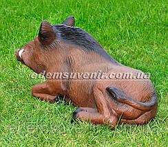 Садовая фигура Кабан лежачий и Кабан лежачий средний, фото 3