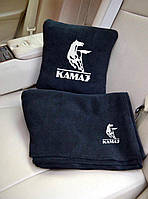 Автомобильный плед Камаз в чехле с вышивкой логотипа