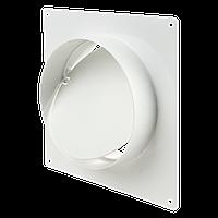 Соединитель с обратным клапаном и настенной пластиной для круглых каналов d100