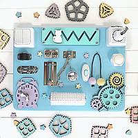 Бизиборд Busy Kids Голубой Разноцветный 30x40см