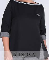 Женский брючный костюм черный размеры: 48-60, фото 3