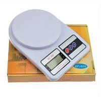 Кухонные электронные весы для продуктов Kitchen Scale SF-400, цвет - белый, с доставкой по Украине