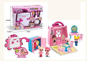 Домик Сумочка лол (lol) для Кукла Л.О.Л (L.O.L surprise), кукла лол 2 шт, мебель, копия