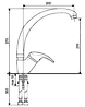 Смеситель для кухни EMMEVI ANUBIS BR7087R бронза, фото 2