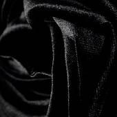 Бархат ткань (Черный)