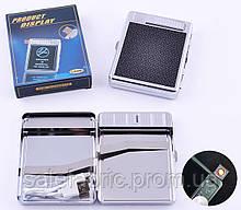 Портсигар+USB зажигалка на 20 сигарет (Спираль накаливания) №4978-1