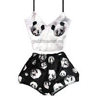 Пижама женская Panda 🐼 Панда шелковая, фото 1