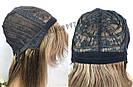💎 Парик из натуральных волос с длинной челкой, мелирован 💎, фото 6