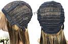 💎 Парик из натуральных волос с длинной челкой, мелирован 💎, фото 7