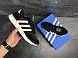 Мужские кроссовки Adidas Iniki,замшевые,черно-белые, фото 2