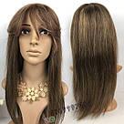 💎 Науральный парик русых оттенков, с чёлкой 💎, фото 2