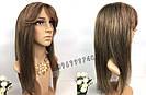 💎Натуральный парик русых оттенков, с чёлкой💎, фото 4