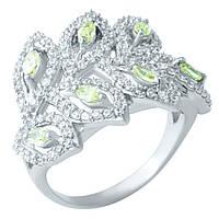 Серебряное кольцо 925 пробы с натуральным цитрином