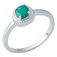 Серебряное кольцо 925 пробы с натуральным изумрудом
