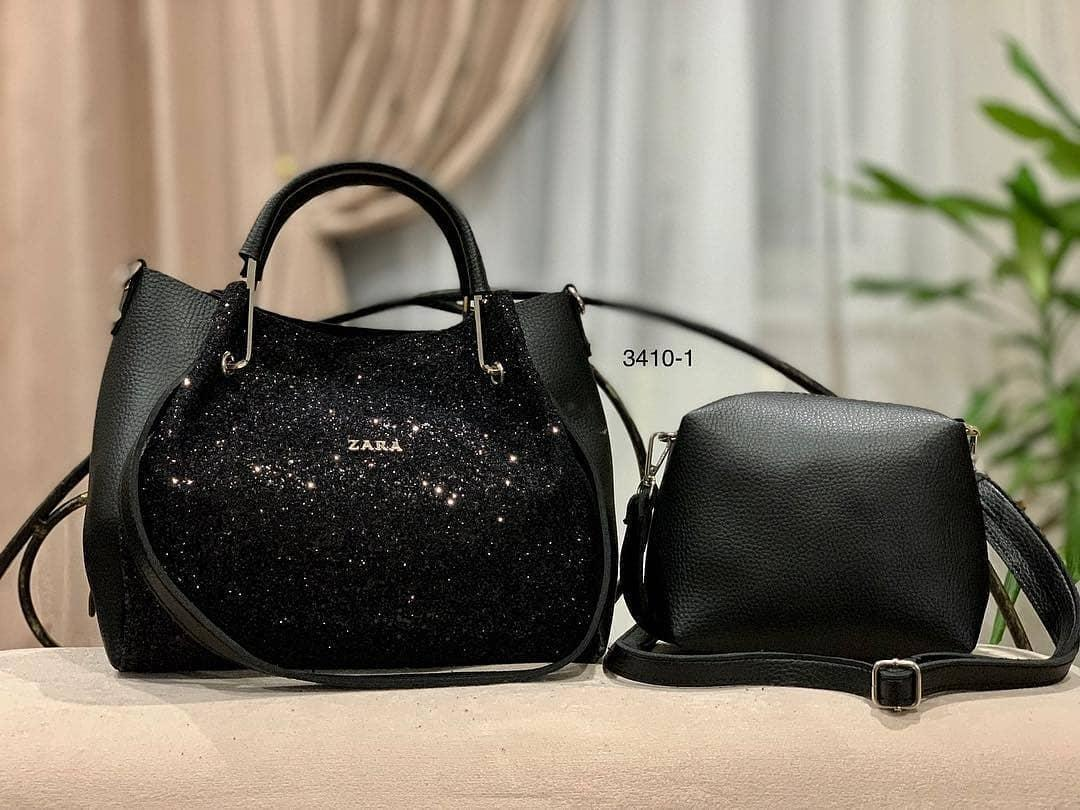 ae0fd9fd417e Женская сумка с глитером черная Код3410, цена 596,70 грн., купить в ...