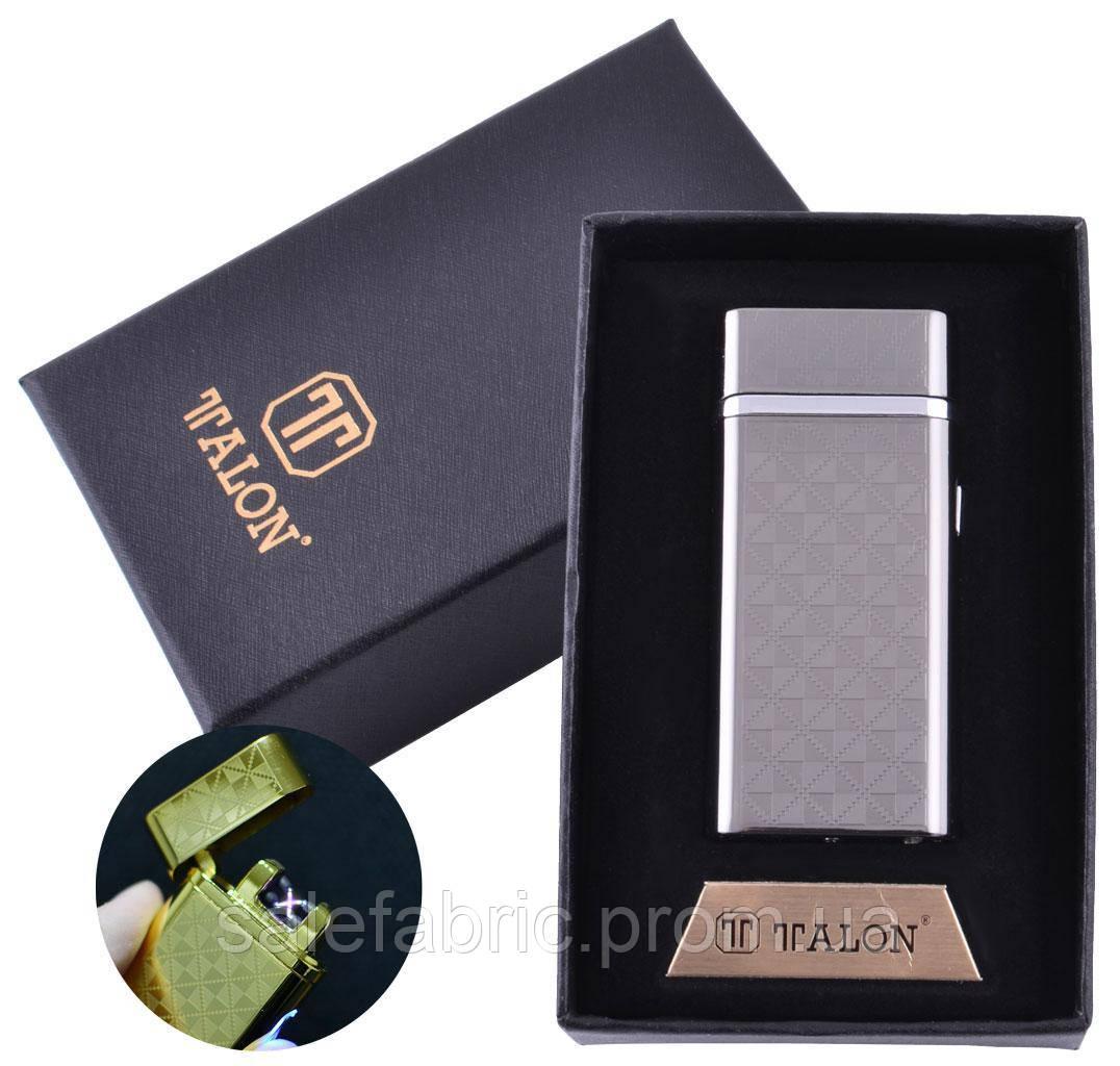 Электроимпульсная зажигалка в подарочной упаковке TALON (Двойная молния, USB) №HL-30-1