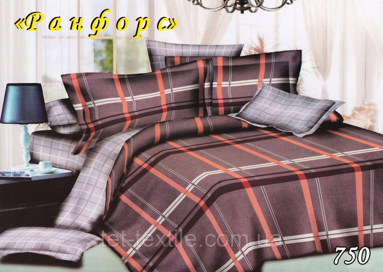 Постельное белье ТЕТ Ранфорс с простынью на резинке (евро размер)