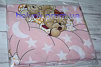 Сменное постельное белье в детскую кроватку 3 в1 для девочки