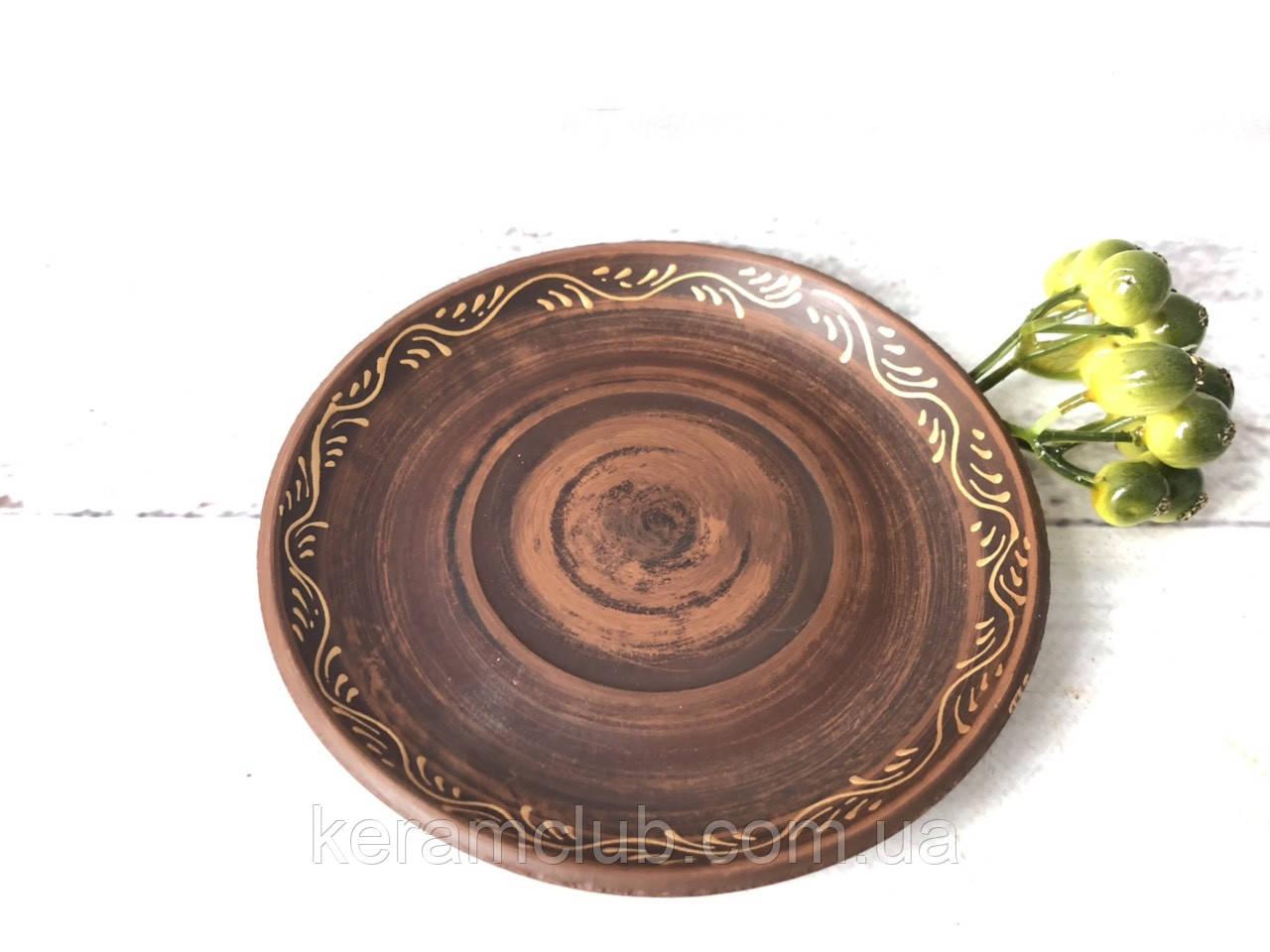 Блюдце 12 см с золотым рисунком