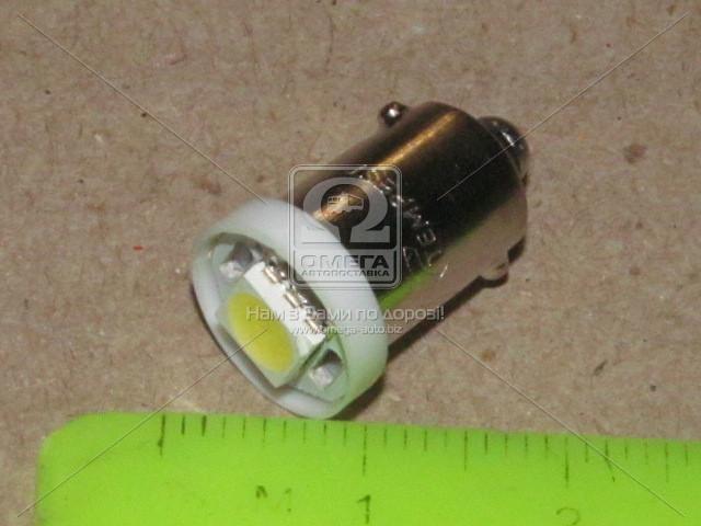 Лампа LED габарит подсветка панели приборов T8 03 1LED BA9S конус белый 12V TEMPEST 4905973820