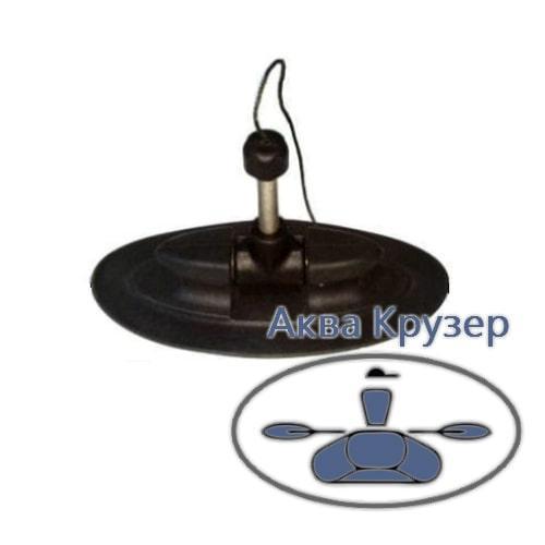 Уключина поворотная для надувной лодки ПВХ, цвет черный, овальное основание