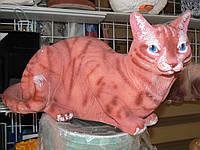 Садовая фигурка Кошка рыжая 20 см.