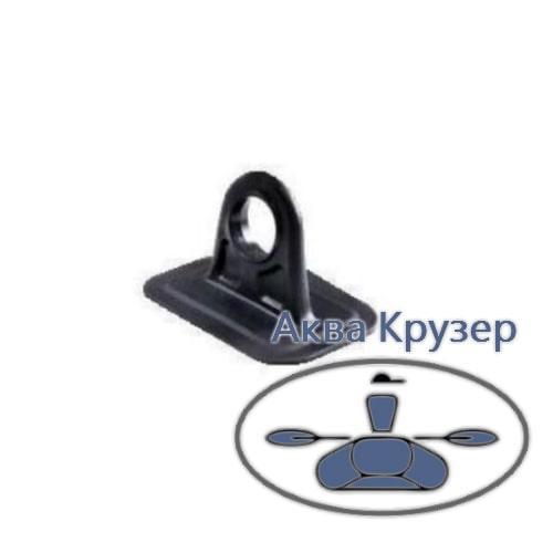 Уключина неповоротна для надувних човнів ПВХ, колір чорний