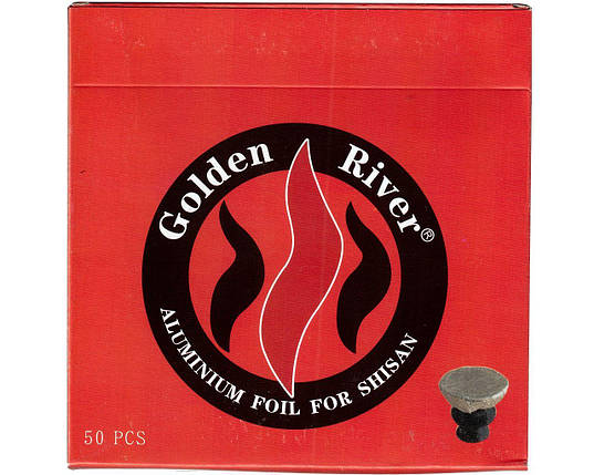 Алюминиевая фольга для кальяна 50 листов Golden-River 9809, фото 2