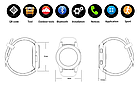 Розумні смарт годинник Smart Watch DT No.1 G8 original чорні Годинникофон, фото 5